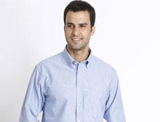 经典全棉牛津纺男士衬衫G572M