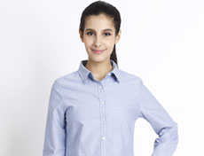 经典全棉牛津纺女士长袖衬衫G572F