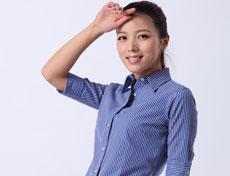 碳素起毛高档女士中袖衬衫定制G509F
