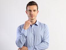 男士米通格商务长袖衬衫G593M
