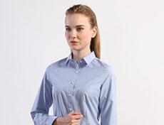 女士米通格商务长袖衬衫G593F